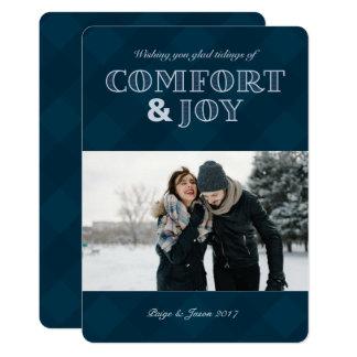 Cartão com fotos do feriado do conforto & da