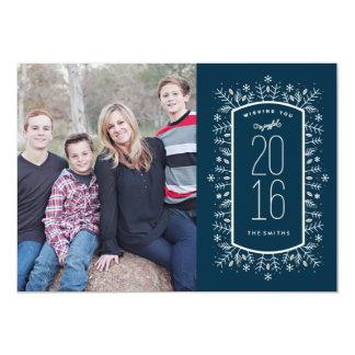 Cartão com fotos do feriado do desejo do ano novo convite 12.7 x 17.78cm