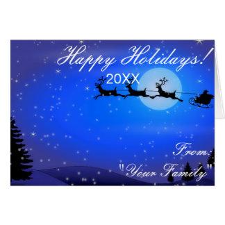 Cartão com fotos do feriado do Feliz Natal