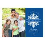 Cartão com fotos do feriado do floco de neve convite personalizados