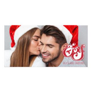 Cartão com fotos do feriado do Natal da alegria