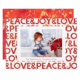 Cartão com fotos do feriado do Natal da paz da Convite 12.7 X 17.78cm
