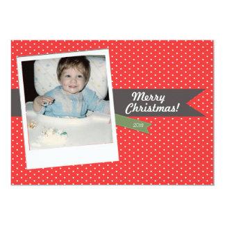 Cartão com fotos do feriado do Natal do Convite 12.7 X 17.78cm