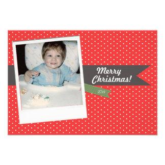 Cartão com fotos do feriado do Natal do divertimen Convites Personalizados
