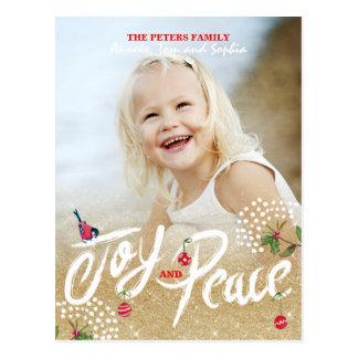 Cartão com fotos do feriado do Natal | do ouro da