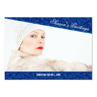 Cartão com fotos do feriado do olhar do brilho dos convite 12.7 x 17.78cm