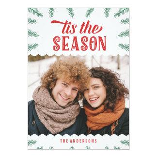 Cartão com fotos do feriado do pinho | do inverno