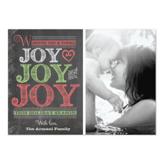 Cartão com fotos do feriado do quadro da alegria convite 12.7 x 17.78cm