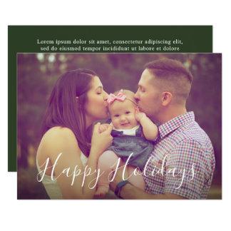 Cartão com fotos do feriado do retrato da família