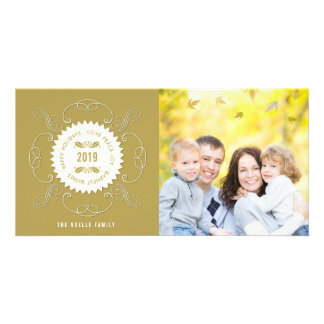Cartão com fotos do feriado do selo do Natal da