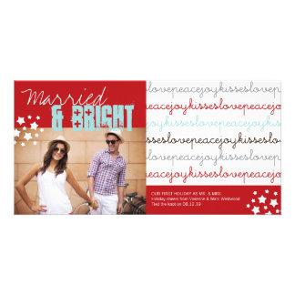Cartão com fotos do feriado do Sr. & da Sra. Amor