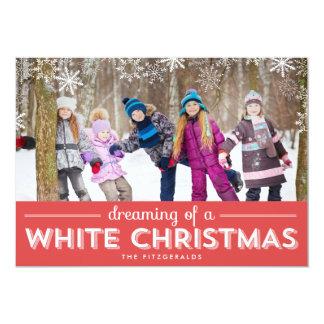 Cartão com fotos do feriado do White Christmas - Convite 12.7 X 17.78cm