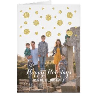 Cartão com fotos do feriado dos confetes do brilho