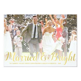 Cartão com fotos do feriado dos Newlyweds da folha