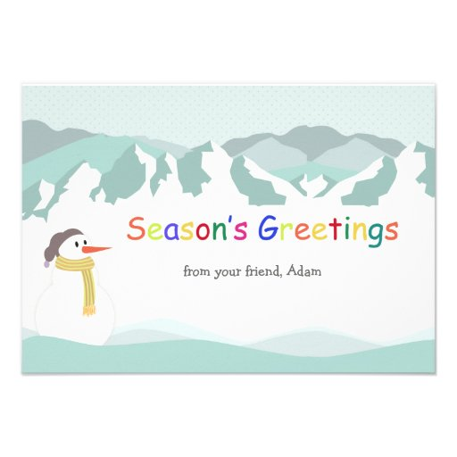 Cartão com fotos do feriado dos picos nevado convite personalizado
