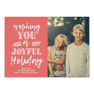 Cartão com fotos | do feriado vermelho e branco