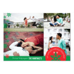 cartão com fotos do floco de neve da foto 5x7 4 convite 12.7 x 17.78cm