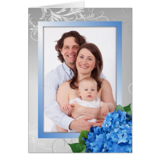 Cartão com fotos do Hydrangea do dia das mães para