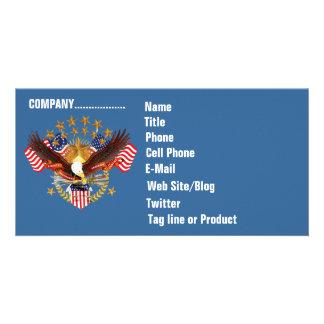 Cartão com fotos do negócio de SOA 2 horizontal. V Cartão Com Foto