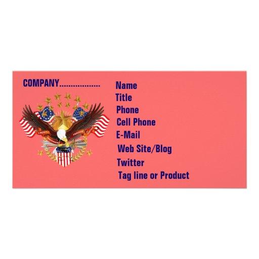 Cartão com fotos do negócio de SOA 2 horizontal. V