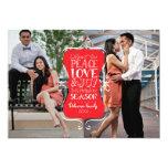 cartão com fotos do quadro 2 da paz 5x7, do amor & convite 12.7 x 17.78cm