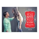 cartão com fotos do quadro da paz 5x7, do amor & convite 12.7 x 17.78cm