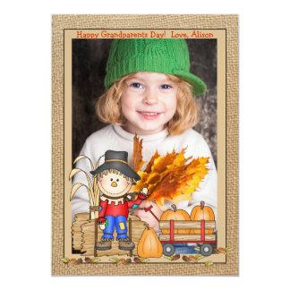 Cartão com fotos do quadro do espantalho convite 12.7 x 17.78cm