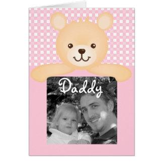 Cartão com fotos do urso de ursinho do dia dos