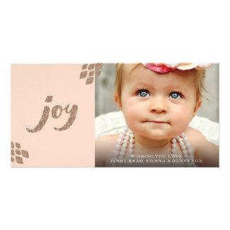 Cartão com fotos do Xmas da alegria do brilho do Cartão Com Foto