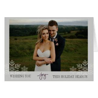 Cartão com fotos dobrado da alegria floco de neve