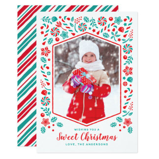 Cartão com fotos doce do feriado do Natal