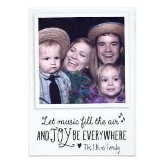 Cartão com fotos dos cartões de natal da música & convite 12.7 x 17.78cm