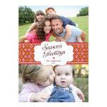 Cartão com fotos dos cumprimentos da estação elega convites personalizado
