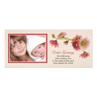 Cartão com fotos dos cumprimentos da páscoa convite 10.16 x 23.49cm