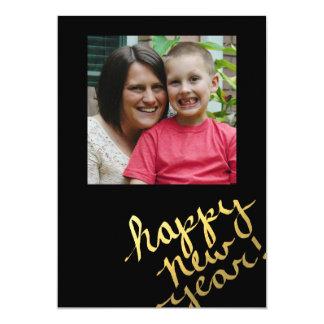 cartão com fotos dos felizes anos novos da folha convite 12.7 x 17.78cm