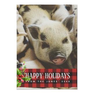 Cartão com fotos dos feriados da xadrez do búfalo