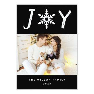 Cartão com fotos dos feriados do floco de neve da