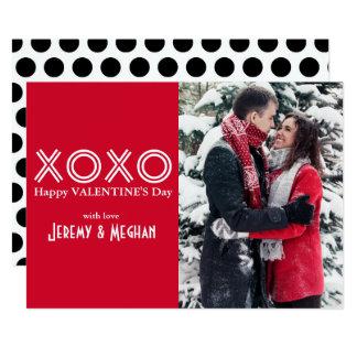 Cartão com fotos dos namorados de XOXO