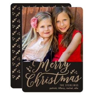 Cartão com fotos EDITÁVEL do feriado do Feliz Convite 12.7 X 17.78cm