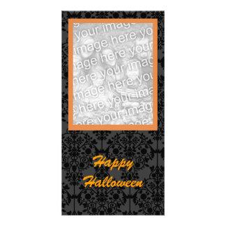 Cartão com fotos elegante do Dia das Bruxas