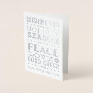Cartão com fotos empilhado do feriado da