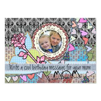 Cartão com fotos engraçado do modelo do convite 12.7 x 17.78cm
