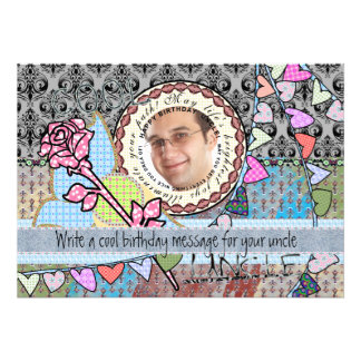 Cartão com fotos engraçado do modelo do convite