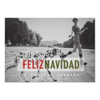 Cartão com fotos espanhol moderno do feriado convite 12.7 x 17.78cm