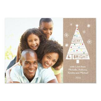 Cartão com fotos esperto do feriado de convite 12.7 x 17.78cm