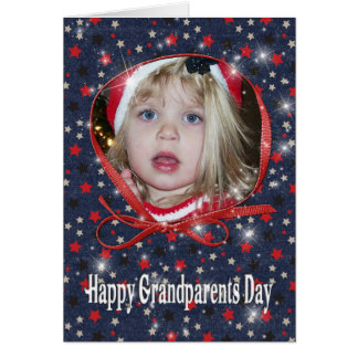 Cartão com fotos estrelado do dia das avós