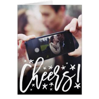 Cartão com fotos estrelado do feriado do ano novo