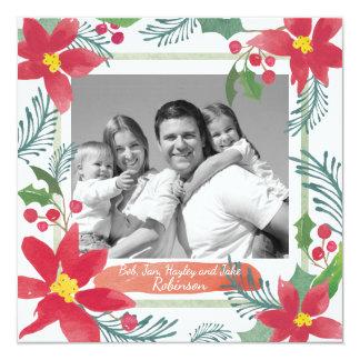 Cartão com fotos feito sob encomenda do Natal, Convite Quadrado 13.35 X 13.35cm