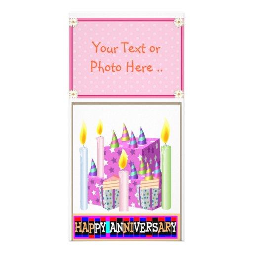Cartão com fotos FELIZ do aniversário. Ideias orig