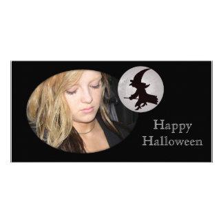 Cartão com fotos feliz do Dia das Bruxas